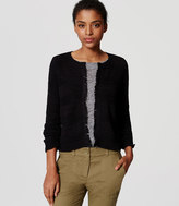 LOFT Fringed Sweater Jacket