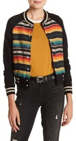 Mother Multi-Colored Striped Snap Button Jacket