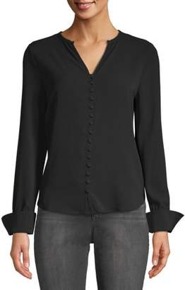 Alison Andrews Women's Covered Button Blouse