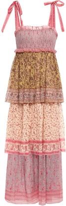 Zimmermann Juniper Tiered Printed Cotton And Silk-blend Maxi Dress