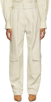 Low Classic Off-White Down Pocket Trousers