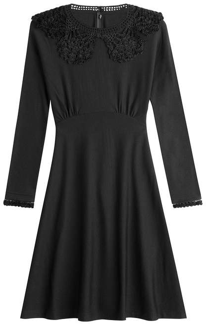 Marc Jacobs Wool Dress with Crochet Details