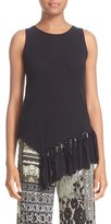 Fuzzi Women's Fringe Sleeveless Top