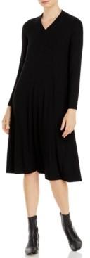Eileen Fisher Long-Sleeve V-Neck Dress