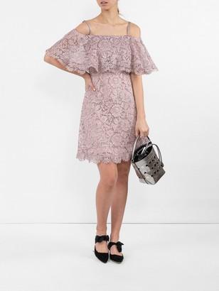 Valentino Cotton-blend Lace Minidress Purple