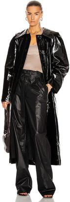 Lemaire Vinyl Trenchcoat in Black | FWRD