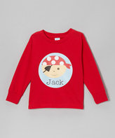 Swag Red Pirate Personalized Tee - Kids