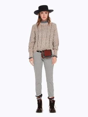 Maison Scotch Slim Fit Stripe Chinos - 25 / 98 - Combo S 32 - Black/White