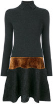 D-Exterior D.Exterior - metallic detail ribbed dress - women - Polyamide/Viscose/Mohair/Wool - S
