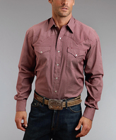Stetson Red Linked Circles Button-Up