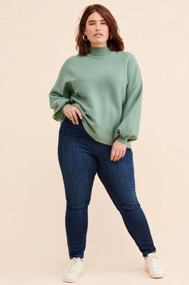 Seven7 Velvet Stripe High-Rise Skinny Jeans