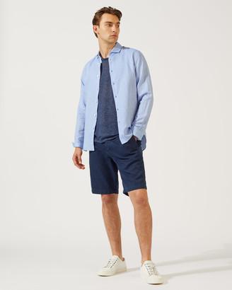 Jigsaw Italian Cotton Linen Long Sleeve Shirt