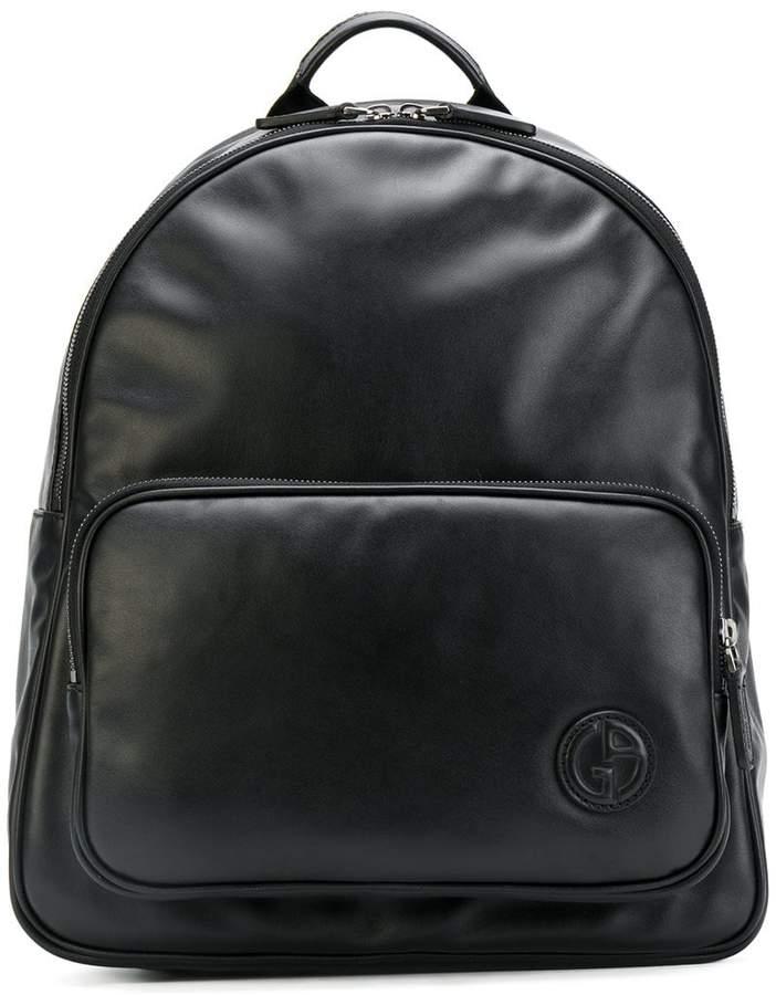 Giorgio Armani logo detail backpack