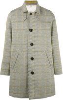 Bally plaid midi coat - men - Polyester/Virgin Wool/Cupro - 48