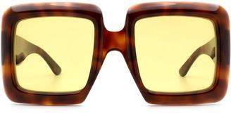 Gucci Gg0783s Havana Sunglasses