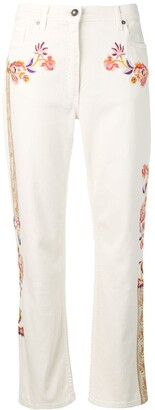 Etro Floral Embroidered Straight Jeans