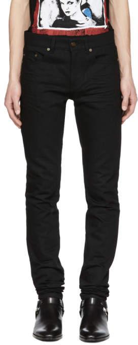 Saint Laurent Black Low-Waisted Skinny Jeans
