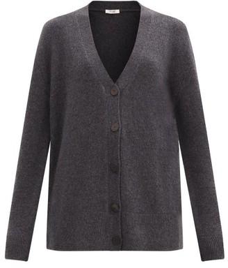 The Row Bante V-neck Cashmere Cardigan - Dark Grey