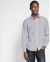 Express micro plaid shirt