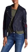 Andrew Marc Scarlett Asymmetrical Moto Leather Jacket