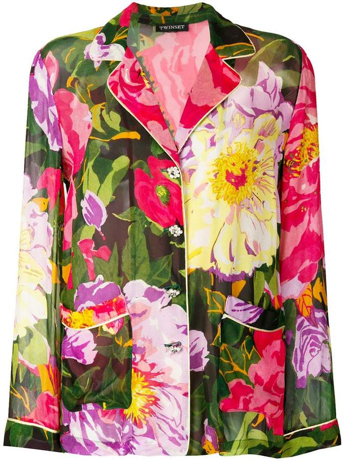 Twin-Set floral print shirt