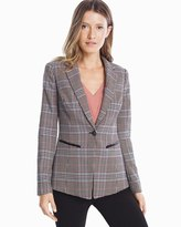 White House Black Market Plaid Blazer Jacket