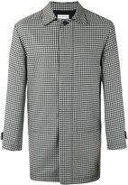 Gosha Rubchinskiy checked coat - men - Cupro/Wool - XS