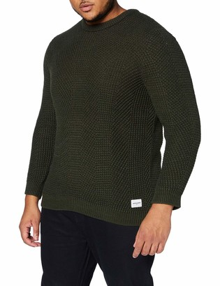 Jack and Jones Men's JCOSTANFORD Knit Crew Neck Plus Jumper