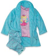 Baby Buns Sparkle and Shine Size 12M 3-Piece Robe and Pajama Set in Mint