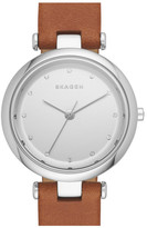 Skagen Women's Tanja Leather Strap Watch