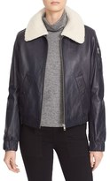 See by Chloe Women's Nappa Leather Jacket With Removable Genuine Shearling Collar