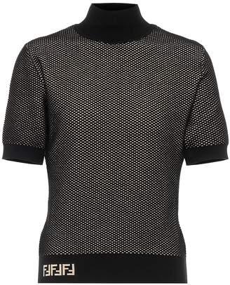 Fendi Knitted mockneck top