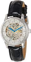 Stuhrling Original Women's 576.11152 Vogue Audrey Stella Automatic Skeleton Swarovski Crystal Silver Dial Watch