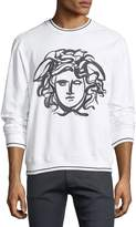 Versace Painted Medusa Cotton Sweatshirt