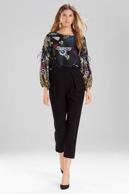 Josie Natori Abstract Dragon Top