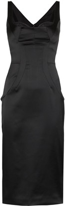 Dolce & Gabbana Satin Bustier Style Midi Dress