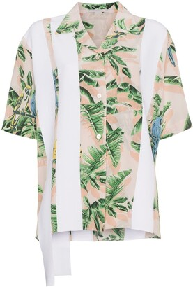 Stella McCartney Stripe and Tropical Print Shirt