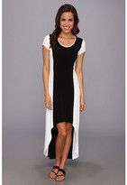 Andrew Marc Color Block High-Low Maxi Dress MD4A3171