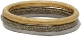 Pearls Before Swine Silver and Gold Stacking Ring Set