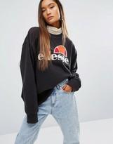 Ellesse Oversized Crew Neck Sweatshirt With Front Logo