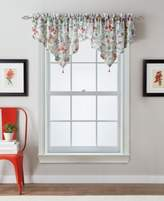 """CHF Botanical Garden 51"""" x 25"""" Crushed Voile Ascot Window Valance"""