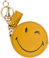 Anya Hindmarch Wink coin purse keyring - women - Leather/metal - One Size