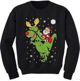TeeStars T-Rex Santa Ride Funny Ugly Christmas Sweater Toddler/Kids Sweatshirts