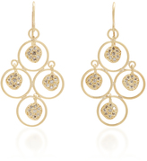LFrank Quad Loop Diamond Disc Earrings