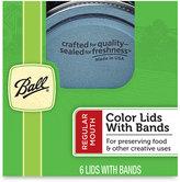 Ball Design Series Regular Mouth 6-Pack Jar Lids with Bands
