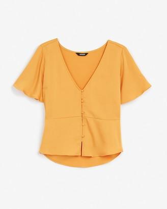 Express Short Sleeve Peplum Shirt