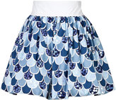 Olympia Le-Tan Cotton Fish Scale Skirt