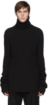 Ann Demeulemeester Black Knit Alison Turtleneck