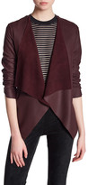 BB Dakota Genuine Leather Drape Front Jacket
