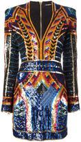 Balmain embellished sequin fitted dress - women - Silk/Acrylic/Polyamide - 38